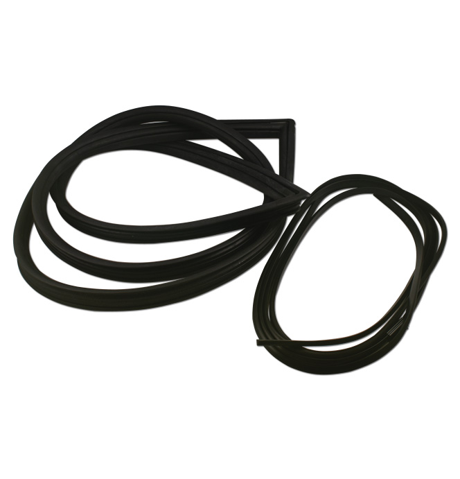 (1973-87)  Rear Glass Weatherstrip - Deluxe - Black Lock Strip - No Clips