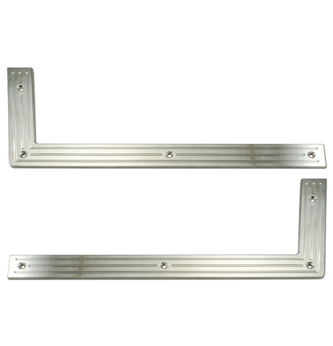 (1955-59)  Door Sill Plates Upper Polished Milled Lines