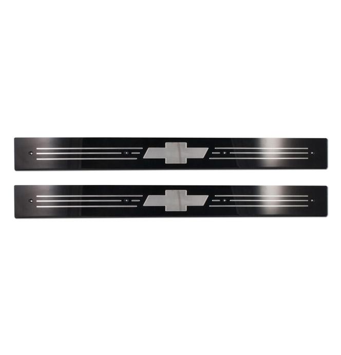 (1967-72) Rocker Panel Protector - 3D Bowtie - Black