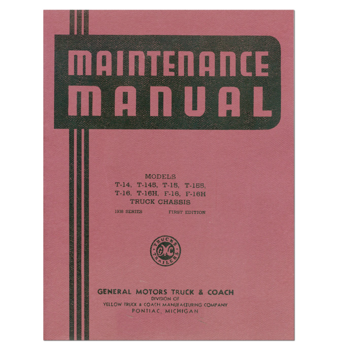 (1936-38)  Shop Manual - GMC