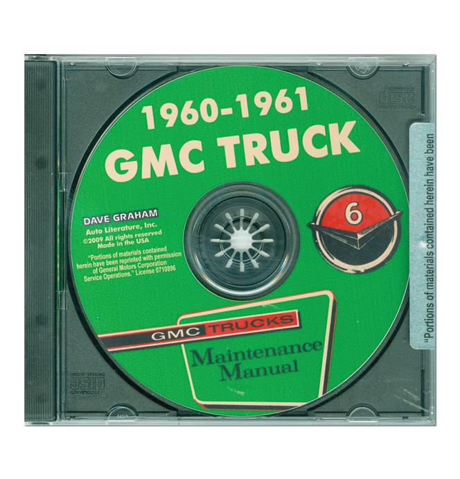 (1960-61)  Shop Manual CD -GMC