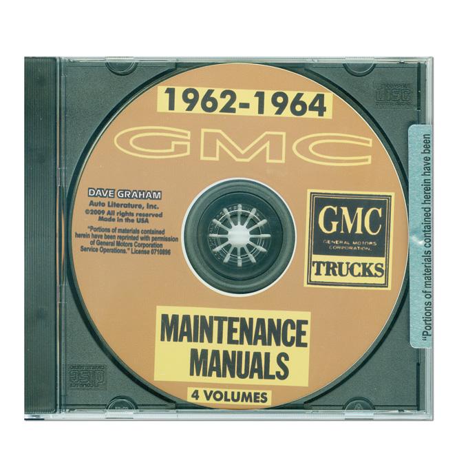 (1962-64)  Shop Manual CD -GMC
