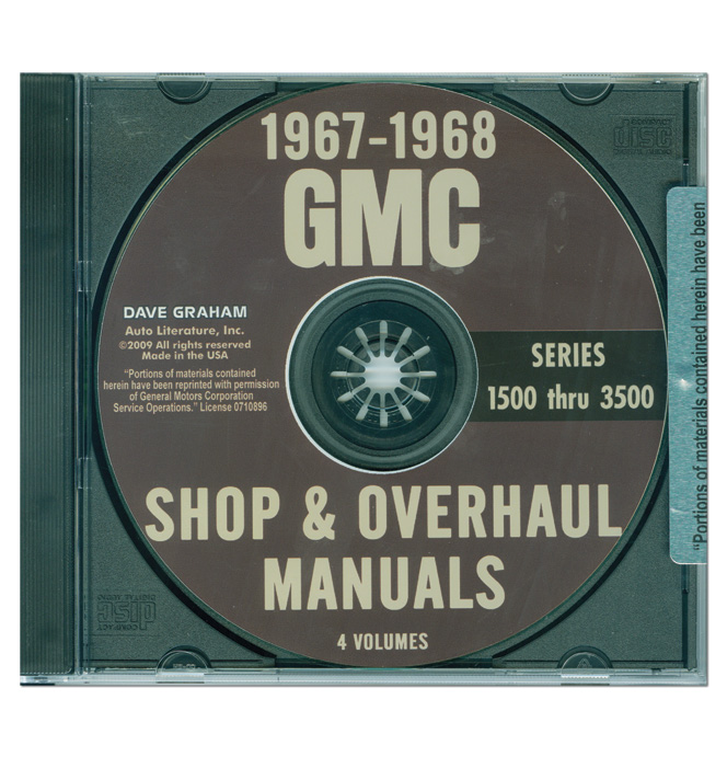 (1967-68)  Shop Manual CD - GMC