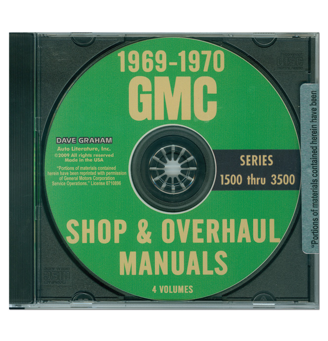 (1969-70)  Shop Manual CD - GMC