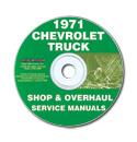 (1971)  Shop Manual CD - Chevrolet