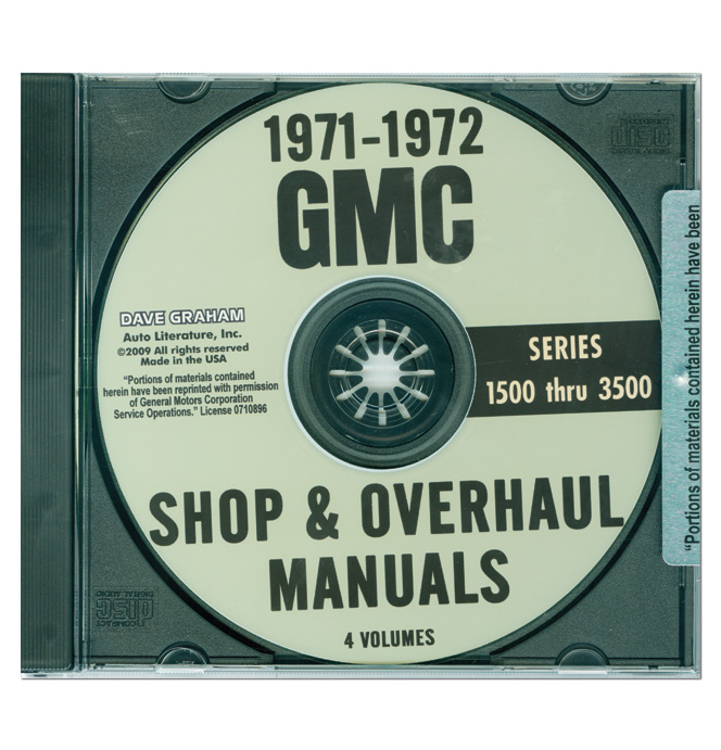 (1971-72)  Shop Manual CD - GMC