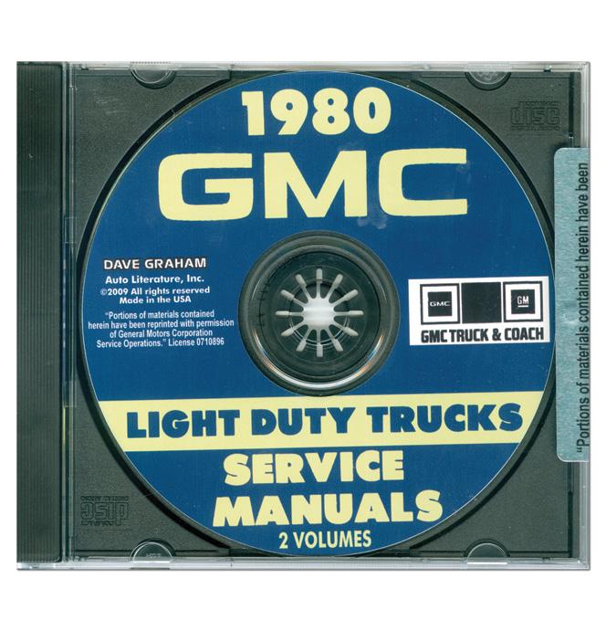 (1980)  Shop Manual CD - GMC