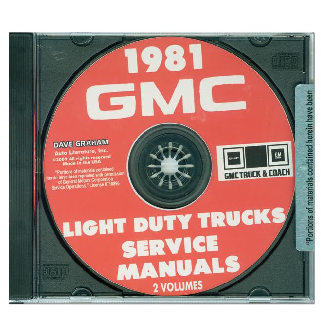 (1981)  Shop Manual CD - GMC