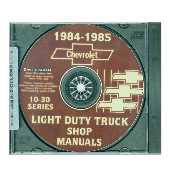 (1984-85)  Shop Manual CD