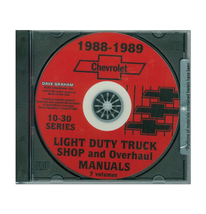 (1988-89)  Shop Manual C/K Series CD