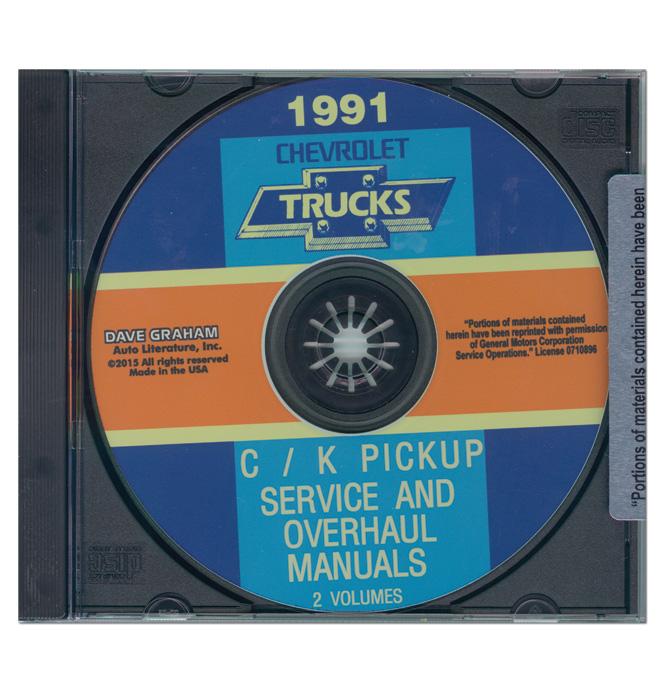 (1991)  Service & Overhaul Manual C/K Series CD