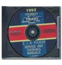 (1992)  Service & Overhaul Manual C/K Series CD