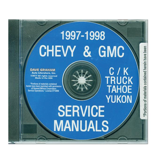 (1997-98)  Service & Overhaul Manual C/K Series CD