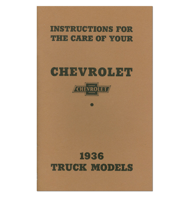 (1936)  Owners Manual - Chevrolet