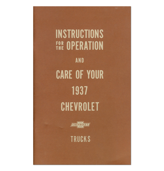 (1937)  Owners Manual - Chevrolet