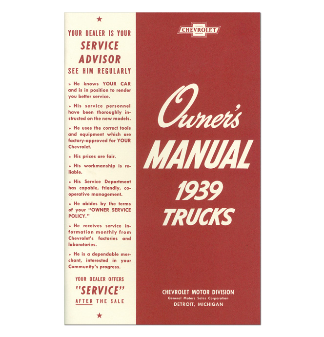 (1939)  Owners Manual - Chevrolet