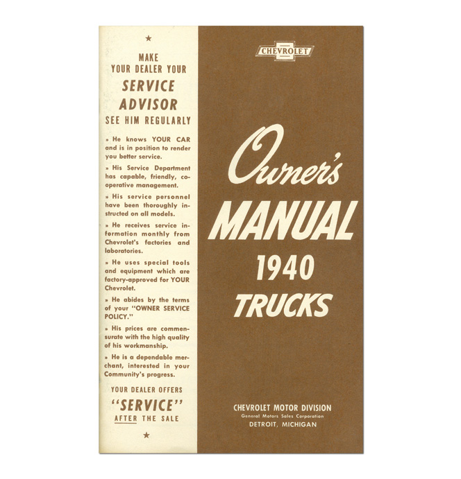 (1940)  Owners Manual - Chevrolet
