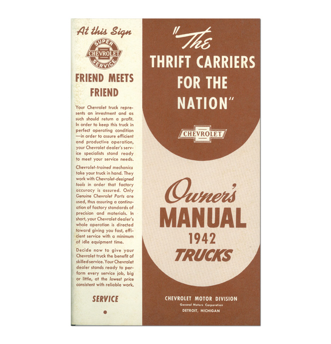(1942)  Owners Manual - Chevrolet