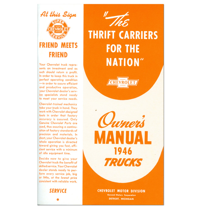 (1946)  Owners Manual - Chevrolet