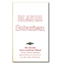 (1981)  Owners Manual-Blazer/Suburban