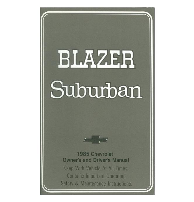 owners manual blazer suburban classic chevy truck parts rh classicparts com 1996 Blazer 1986 Blazer