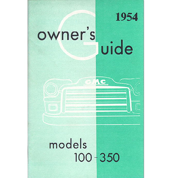 (1954)  Owners Manual - GMC