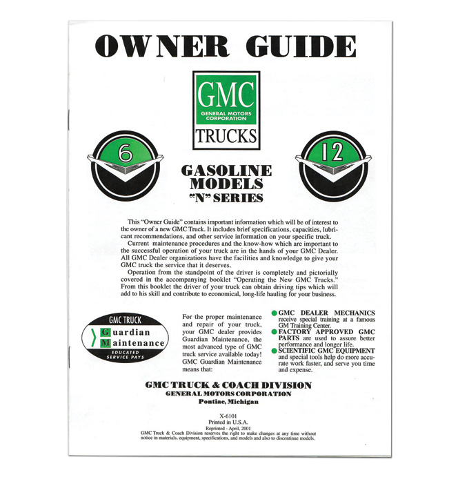 (1961)  Owners Manual - GMC