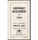 (1948)  Accessory List & Price Schedule