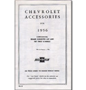 (1956)  Accessory List & Price Schedule