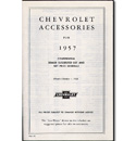 (1957)  Accessory List & Price Schedule