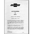 (1971)  Accessory List & Price Schedule