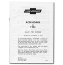 (1973)  Accessory List & Price Schedule