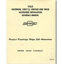 (1963)  Accessory Installation Manual