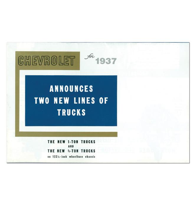 (1937)  Sales Brochure