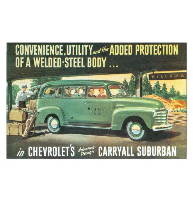 (1948-52)  Sales Brochure Suburban
