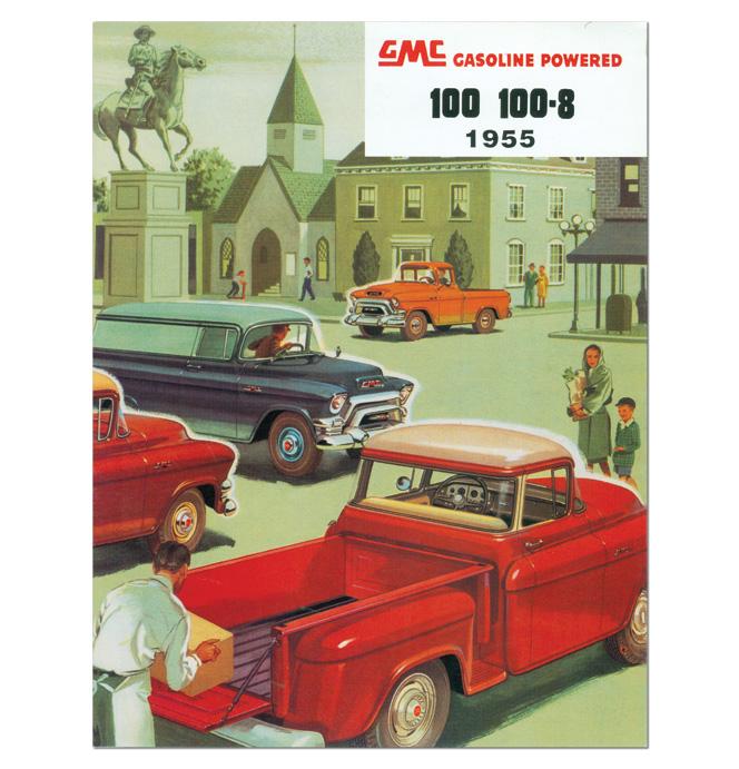 (1955 2nd Series)  Sales Brochure GMC