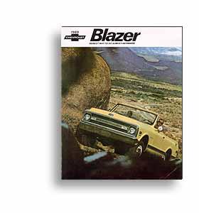 (1969)  Sales Brochure - Blazer