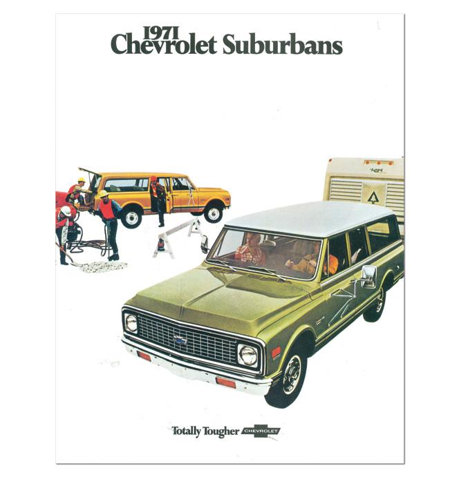 (1971)  Sales Brochure Suburban