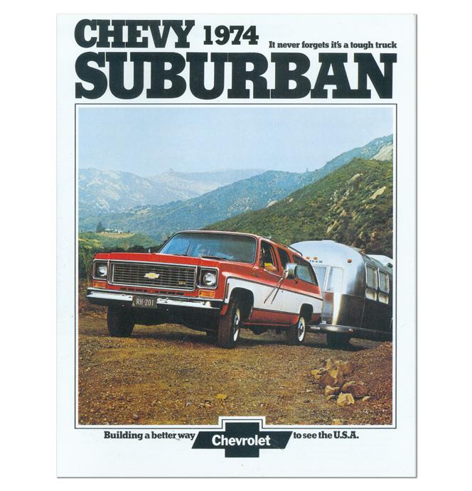 (1974)  Sales Brochure Suburban