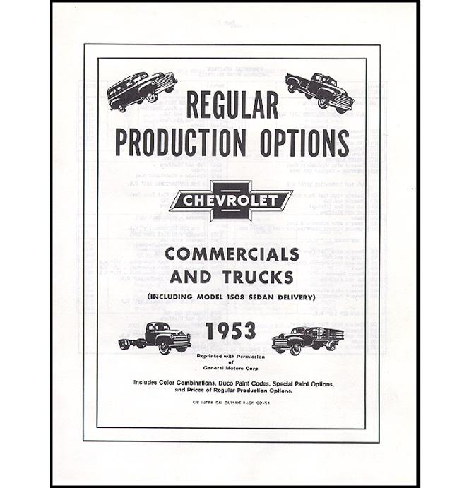 (1953)  RPO Booklet
