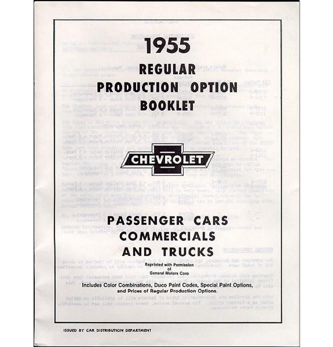 (1955 2nd Series)  RPO Booklet