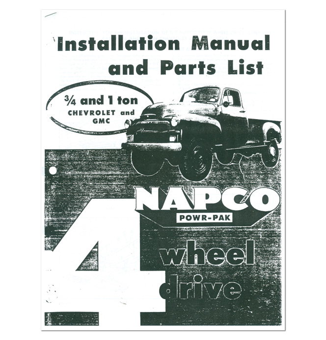 (1955-59)  NAPCO - Install & Parts Manual 3/4-1 Ton