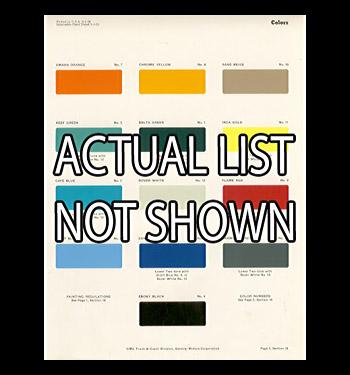 (1938-59) List of GMC Paint Color Names