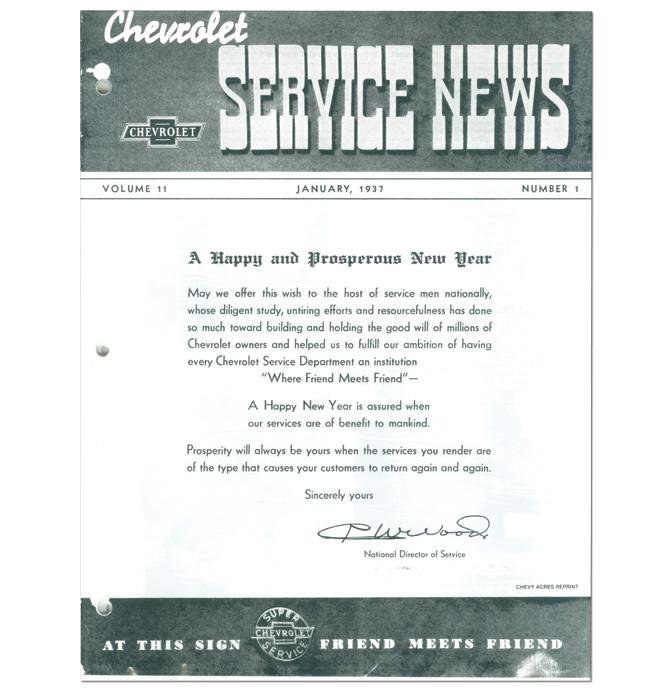 (1937)  Service Bulletin