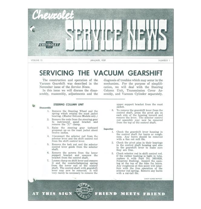 (1939)  Service Bulletin