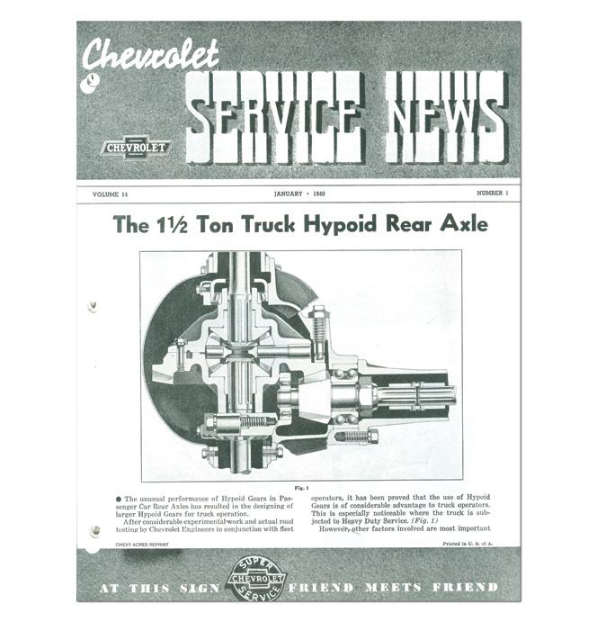 (1940)  Service Bulletin