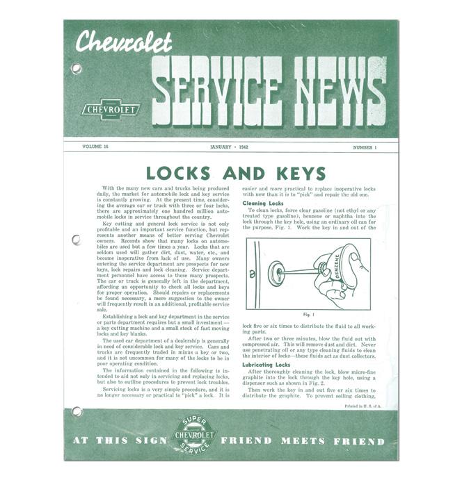 (1942-45)  Service Bulletin