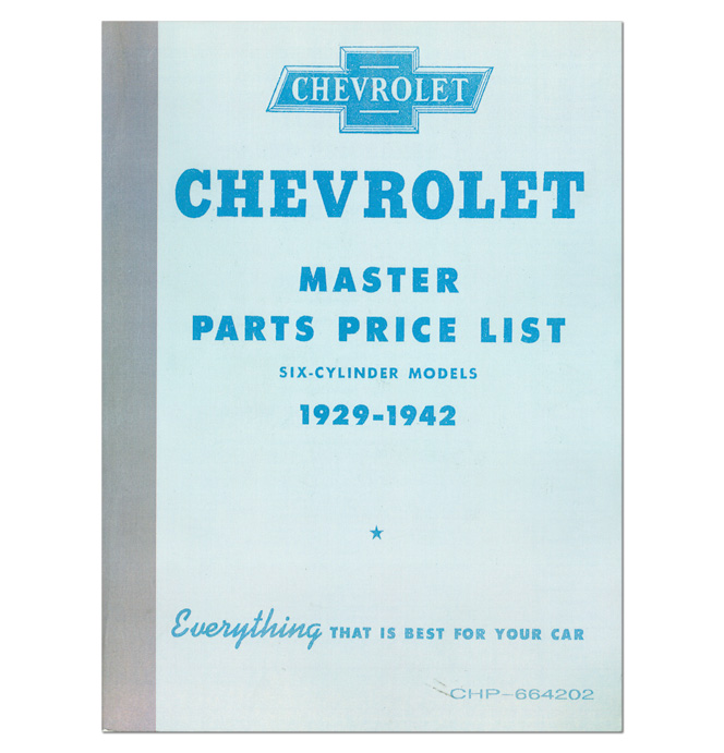 (1929-42)  Chevrolet Truck and Car Parts Book