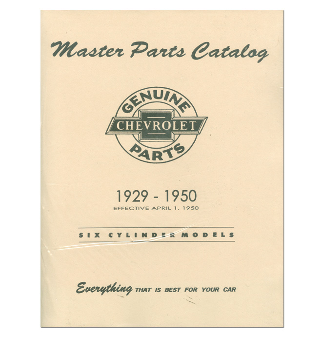 (1929-50)  Chevrolet Truck and Car Parts Book