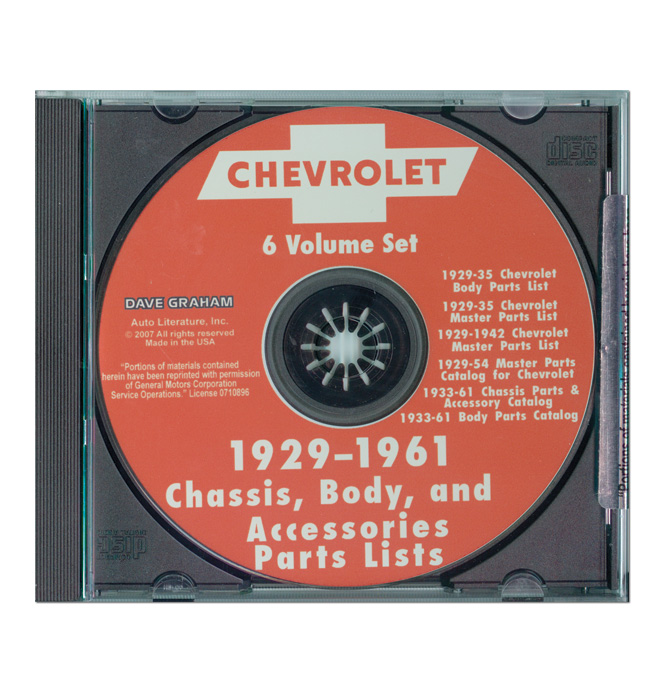 (1929-61)  Chevrolet Truck and Car Parts Book On CD